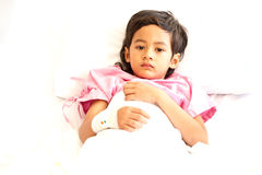 Boy in hospital Royalty Free Stock Photo