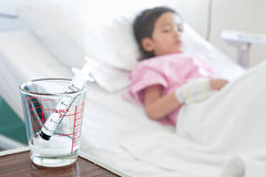 Boy in hospital Stock Images