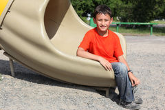 Boy in hot day Royalty Free Stock Images
