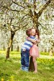 The boy hugged girl Stock Photography