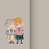 Boy hugging a girl. Stock Image