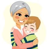 Boy hugging Grandmother Royalty Free Stock Photo