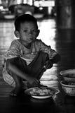 A boy so hungry Stock Photos