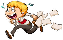 A boy in a hurry vector illustration