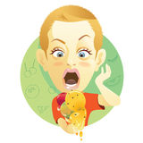 Boy with ice cream Stock Image