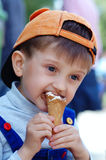 Boy with ice cream Royalty Free Stock Photography