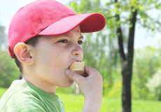 Boy with ice-cream Royalty Free Stock Photography