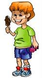 The boy with ice-cream Stock Image