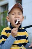 Boy with ice cream Royalty Free Stock Photos