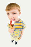 Boy with ice-cream Stock Images