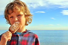 A boy with an ice-cream Royalty Free Stock Image