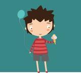 Boy With Ice Cream Royalty Free Stock Image