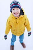 Boy ice skating Royalty Free Stock Photography