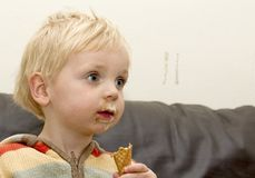 Boy with icecream Royalty Free Stock Photo
