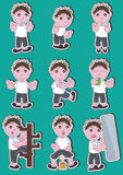 Boy Icon Action Set_eps Stock Photos