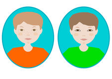 Boy icon image. Vector icon image of a boy Royalty Free Stock Photography