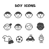 Boy icons Royalty Free Stock Photography