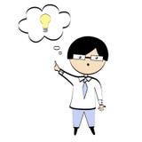 A boy with idea Stock Image