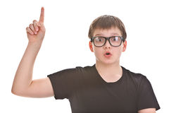 Boy with an idea Stock Images