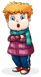 Boy. Illustration of a close up boy wearing jacket Stock Images