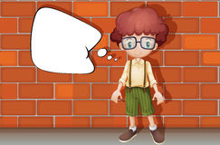 A boy. Illustration of a boy standing in front of a wall Royalty Free Stock Photography