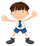 A boy. Illustrtion of a boy in school uniform on white Royalty Free Stock Image