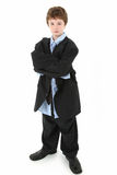 Boy In Baggy Suit Royalty Free Stock Photo
