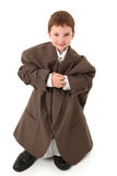 Boy In Big Suit Stock Image