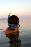 Boy In Diving Mask Stock Photos