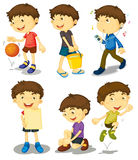 Boy In Five Poses Royalty Free Stock Images