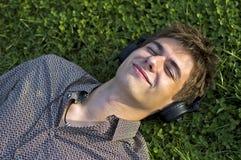 Boy In Headphones Stock Images