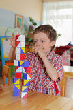 Boy In Kindergarten Stock Image