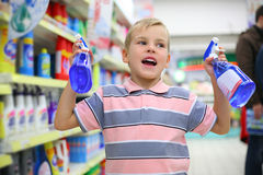 Boy In Shop Stock Images