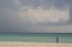 Boy In The Beach. Royalty Free Stock Image
