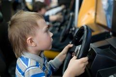 Boy In The Children S Amusement Arcade Stock Photography