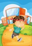 Boy infront of school Stock Photos