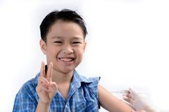 Boy injection Stock Photos