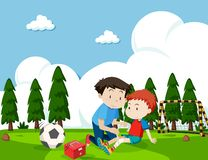 Boy injured from football stock image