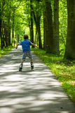 Boy on inline skates Royalty Free Stock Photography