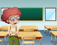 A boy inside the classroom. Illustration of a boy inside the classroom Stock Photos