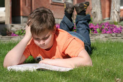 Free Boy Is Reading A Book Royalty Free Stock Images - 2888459