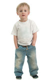 Boy isolated over white Royalty Free Stock Images