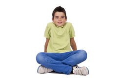 Boy isolated Stock Images