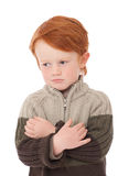 Boy isolated  on white Royalty Free Stock Photography