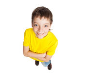 Boy isolated on white Stock Photography