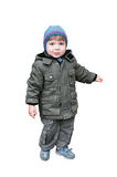 A boy is in a jacket Stock Image