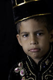 Boy in Javanese costume Royalty Free Stock Images
