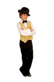 Boy Jazz Dancer in Costume Royalty Free Stock Photo
