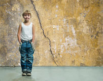 Boy in jeans Stock Images
