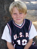 Boy in jersey Stock Photos